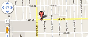 Map to Lucky Dog in Berwyn